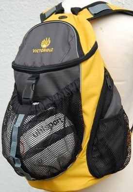 Victoriouz URBAN Ball Back Pack i Gul