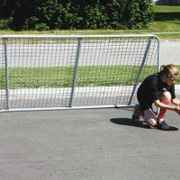 Skolegårds fodboldmål Junior i stål1