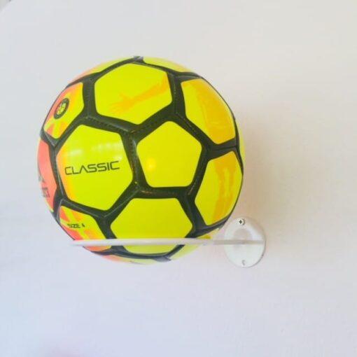2 stk Fodboldholder ORGANIZER i stål - Hvid