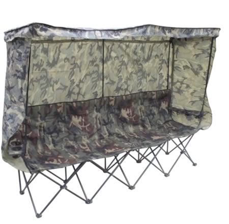Foldbar udskiftnings bænk til 4 personer i camouflage