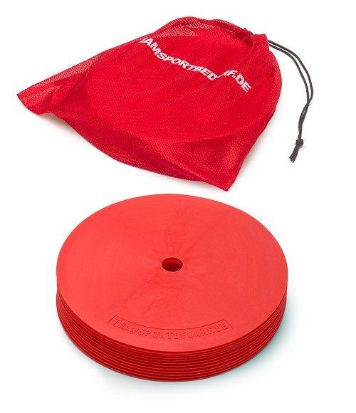 10 stk Markeringsmåtter XXL ø 21 cm i Rød