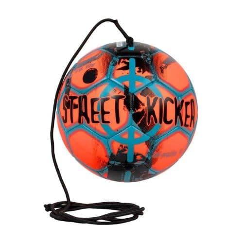 select street kicker fodbold i blå-orange