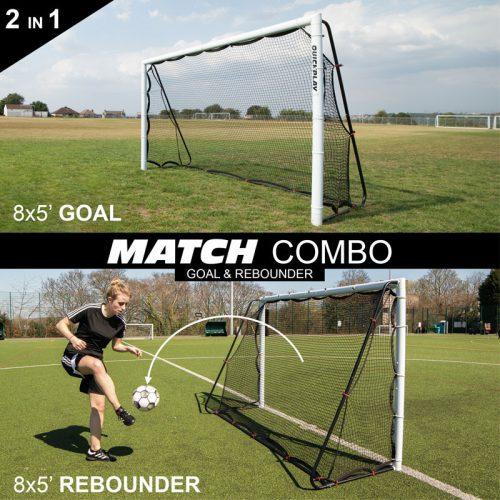 Quickplay Match Mix Fodboldmål og Rebounder 244 x 152 cm