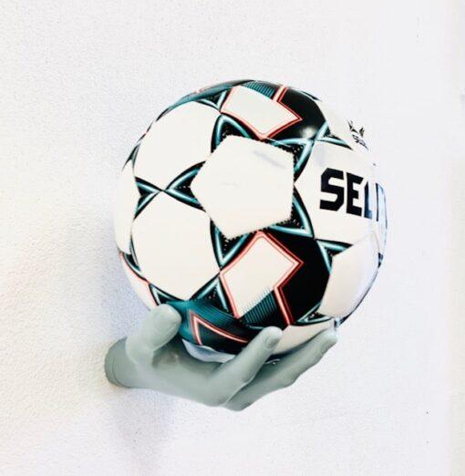 2 stk Fodboldholder Ballonwall Boldhånd - Lyseblå