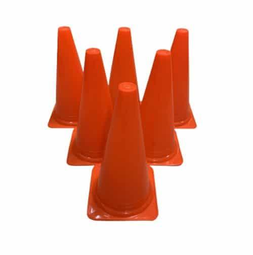 6 stk Sports og markeringskegler i Orange - 30 cm