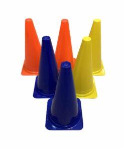 6 stk Sports og markeringskegler i Mix farver - 30 cm
