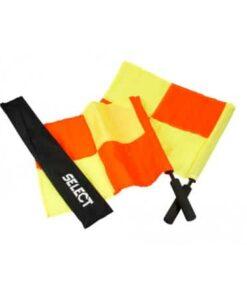 1 sæt Select PRO Linjedommerflag i Gul og Orange