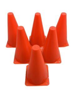 6 stk Freeplay Markering og Sportskegle 23 cm - Orange