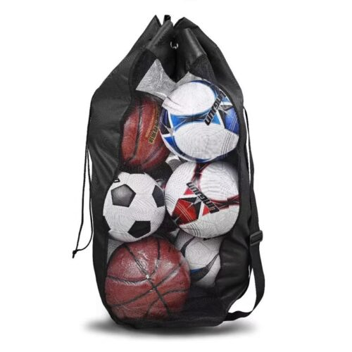 Solid fodboldsæk fra Freeplay med skulderrem samt lukkesnor i toppen. Fremstillet i holdbar vandtæt nylon materiale. Super kvalitet til lavpris.