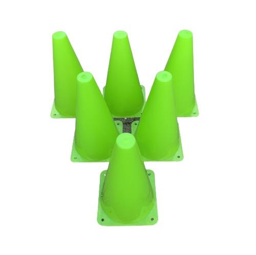 6 stk Freeplay Markering og Sportskegle 23 cm - Grøn