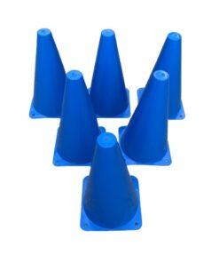 6 stk Freeplay Markering og Sportskegle 23 cm - Blå