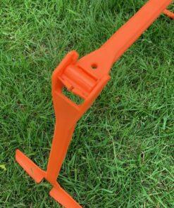 1 stk Orange Justerbar træningshæk i 2 højder