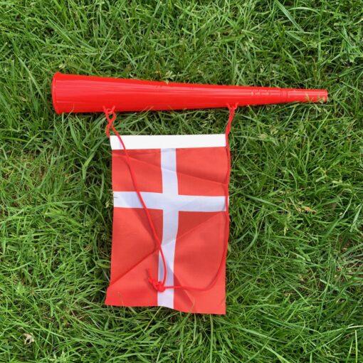 Original Roligan Fanhorn - Rød & Hvid
