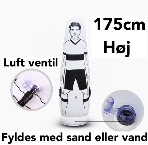 Oppustelig Træningsfigur 175 cm med Pumpe