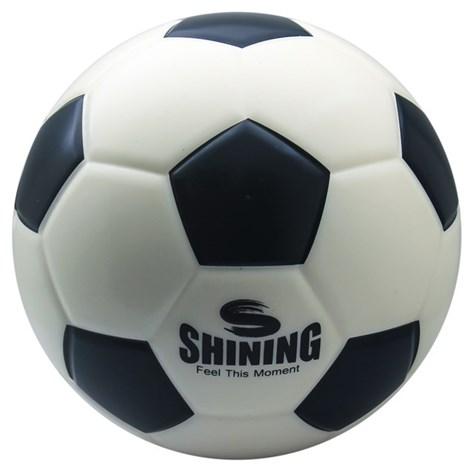 Soft Foam Fodbold Str.4 - Sort-Hvid