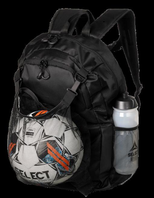 Select Milano Rygsæk med net til fodbold
