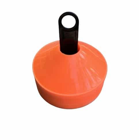 50 stk Freeplay Kegletoppe i Orange