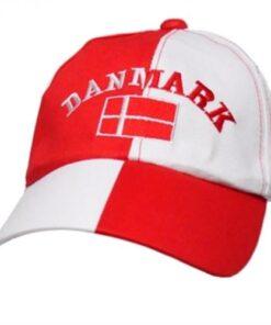 Roligan Danmark Kasket - Hvid & Rød