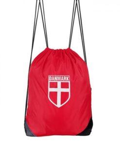 Gymnastikpose - Danmark - Rød/hvid